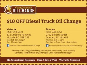 coupon-10off-diesel-truck-oil-change