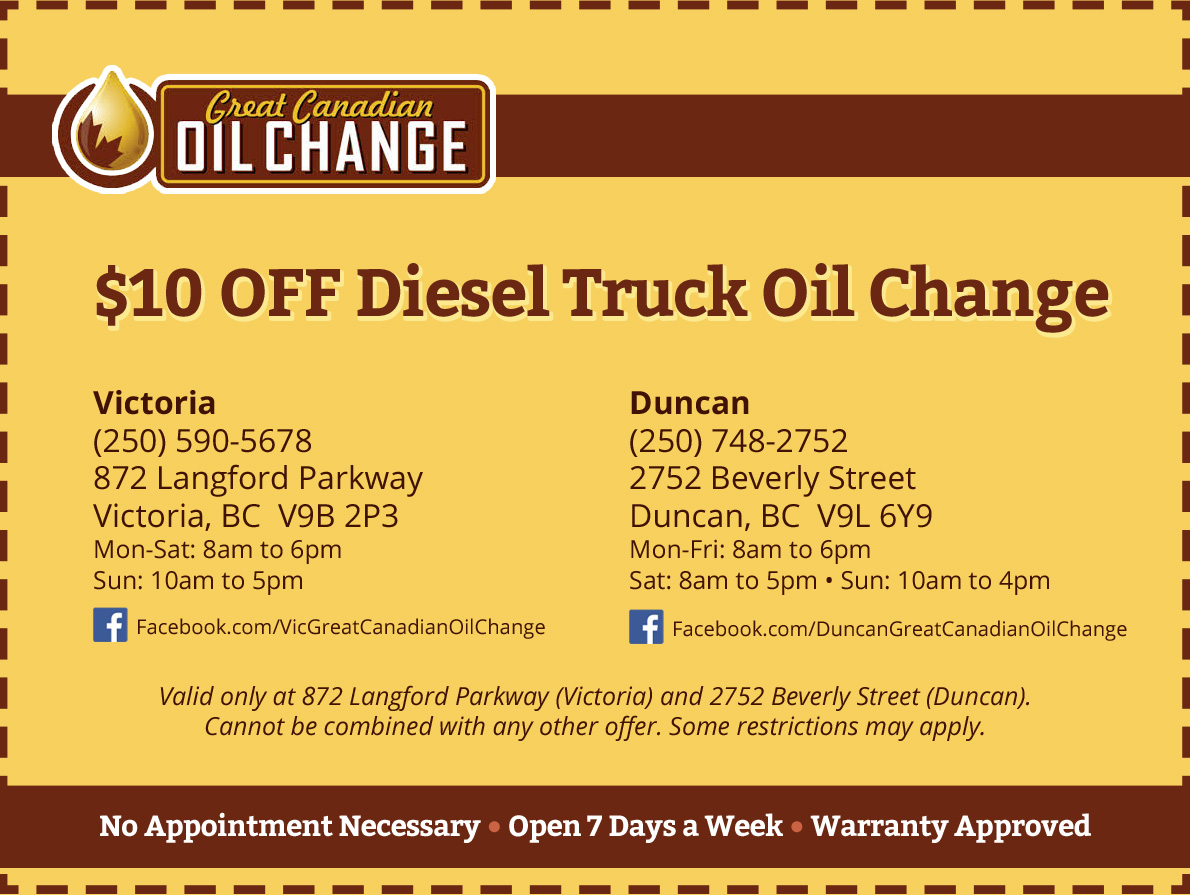 Oil discount coupons