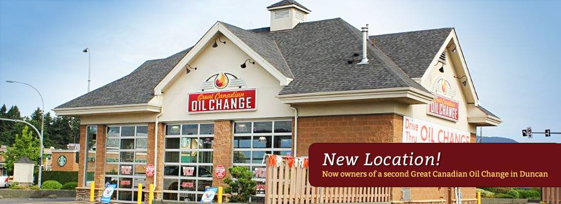 The new oil change duncan location. Doors on both sides of the shop make it easy for quick 10 min oil change.