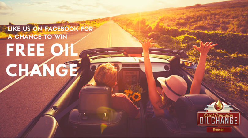 Like us on facebook for a chance to win a free oil change